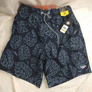 SPEEDO Swim Trunks Palm Leaf 2-Way Stretch Size S